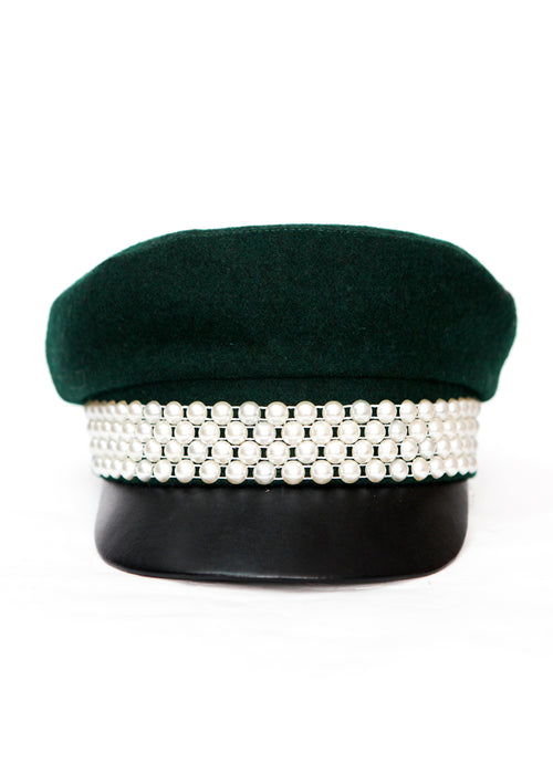 Green Cap with Pearls created in Azerbaijan