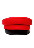 frontal view of Red Wool Cap