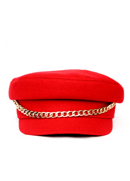 Red Wool Cap created by Azerbaijani designer