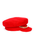 Right view of Red Wool Cap