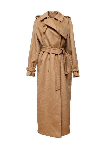 Luxury MAX MARA Beige Wool Trench