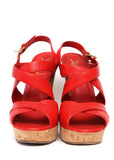 Pre owned YVES SAINT LAURENT Red Leather Wedges