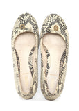 Top view of Luxury FENDI Grey Python Ballets