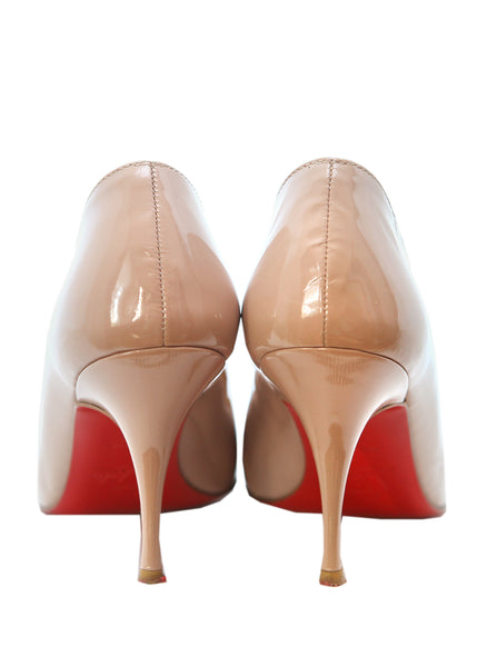 Back view of pre owned CHRISTIAN LOUBOUTIN Nude Stiletto