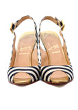 Pre owned CHRISTIAN LOUBOUTIN Blue & White Wedges