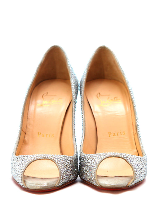 Pre owned CHRISTIAN LOUBOUTIN Swarovski Embellished Pumps