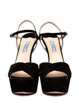 Pre owned PRADA Black Suede Pumps