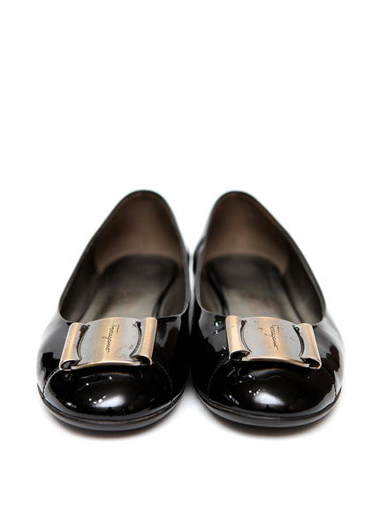 Pre owned SALVATORE FERRAGAMO Black Ballet Flats