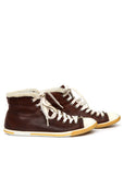 Pre owned PRADA Brown Leather Sneakers