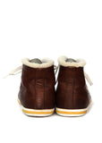 Back view of pre owned PRADA Brown Leather Sneakers