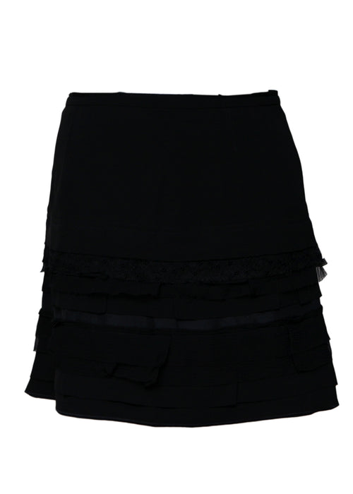 Luxury NINA RICCI Black Skirt