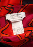 logo on Luxury MAX MARA Printed Silk Dress