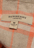 logo on Fashion BURBERRY Beige Linen Suit