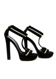 Pre owned GUCCI Black Suede Sandals