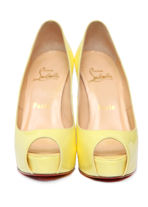 Pre owned CHRISTIAN LOUBOUTIN Lemon Yellow Pumps