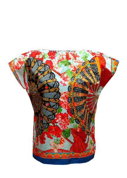 Luxury DOLCE & GABBANA Bright printed cotton blouse