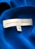Logo on luxury ALEXANDER TEREKHOV Electric blue silk jumpsuit