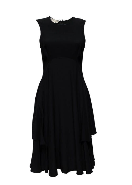 Luxury STELLA MCCARTNEY Black Silk Dress