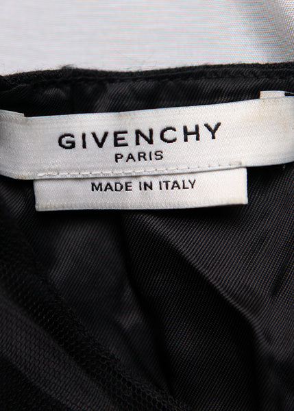 Logo on Luxury GIVENCHY Black Wool Dress