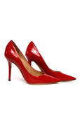 Right view of pre owned SALVATORE FERRAGAMO Red Leather Stilettos