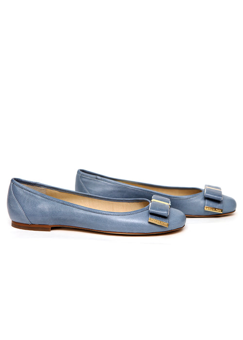 Luxury MICHAEL KORS Blue Leather Flats