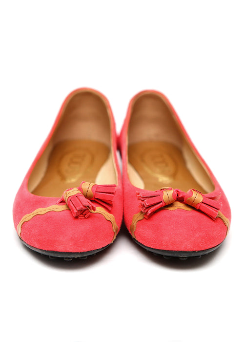 Luxury TOD'S Pink Suede Flats