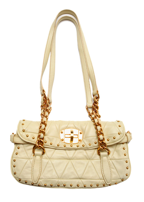 Pre owned MIU-MIU White Leather Bag