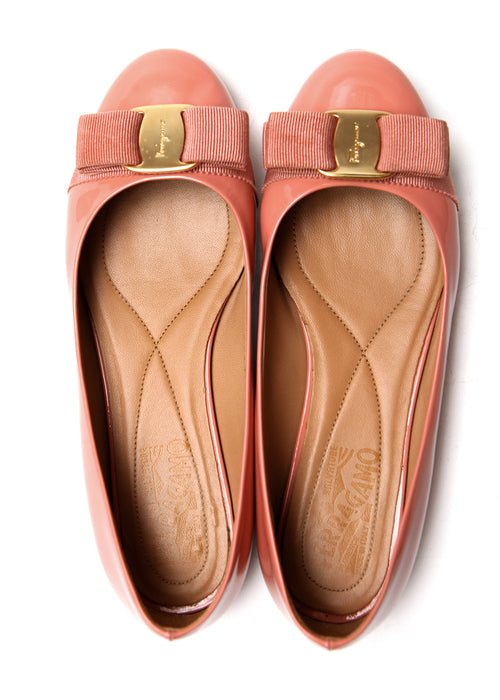 Pre owned SALVATORE FERRAGAMO Pale Pink Flats