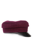 right view bordeaux Color Handmade Cap by Azerbaijani fashion designer