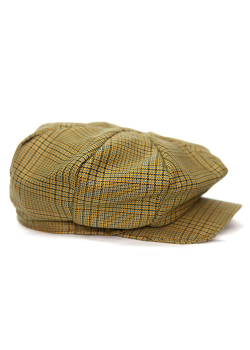 Beige & Brown Cage Cap by Azerbaijan designer right view