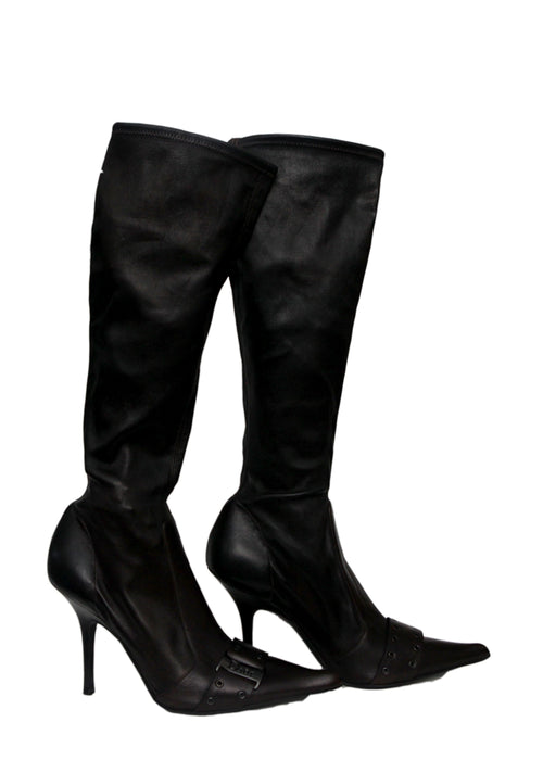 Luxury CHRISTIAN DIOR Dark Brown Boots