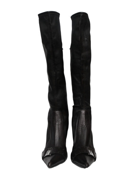 Front view of Luxury CHRISTIAN DIOR Dark Brown Boots