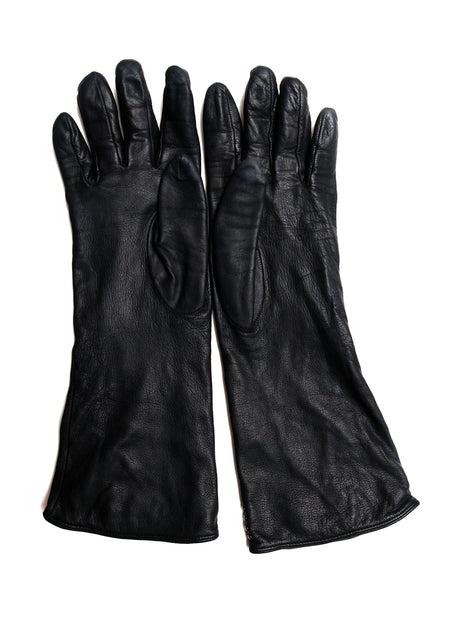 Metallic Leather Gloves