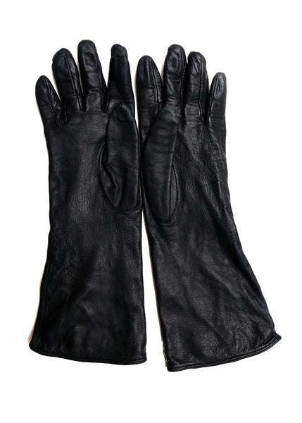 Fashion BURBERRY Black Leather Gloves