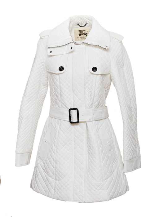 Luxury BURBERRY White Coat