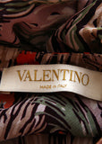 logo on Pre owned VALENTINO Silk Printed Blouse