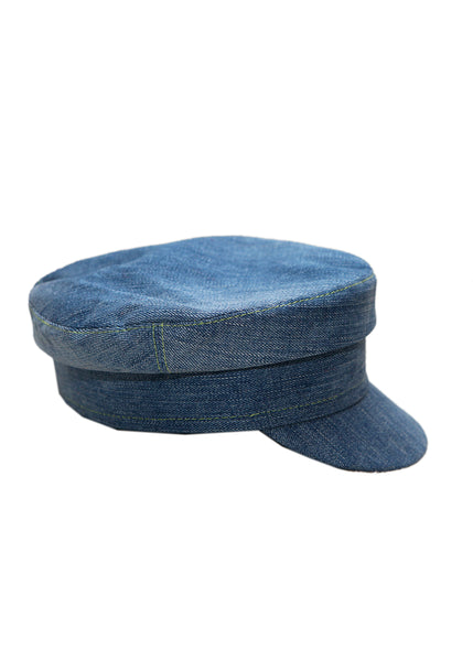 Right view of Jeans Boy Cap created by Azerbaijani fashion designer
