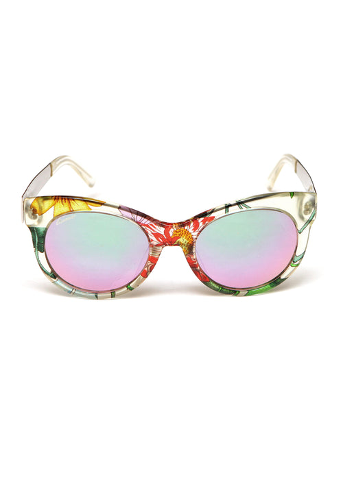 Pre owned GUCCI Flower print Sunglasses