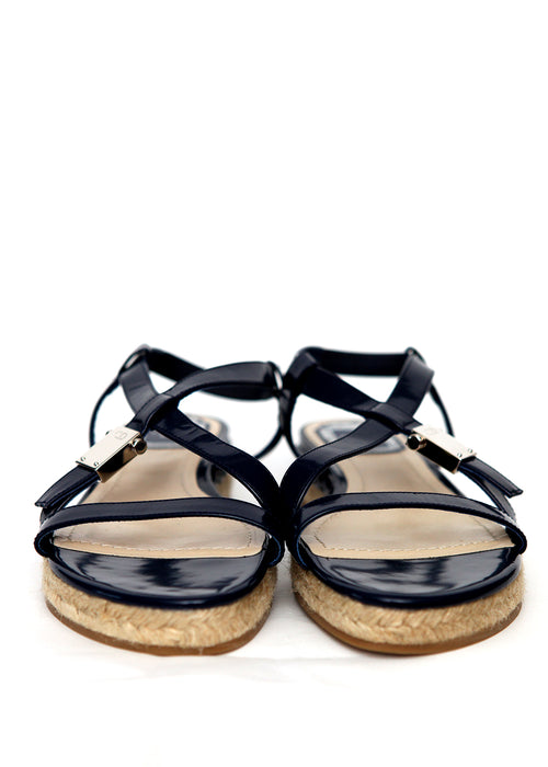 Luxury CHRISTIAN DIOR Dark Blue Sandals