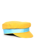 Yellow Cotton Cap with blue ribbon  right view