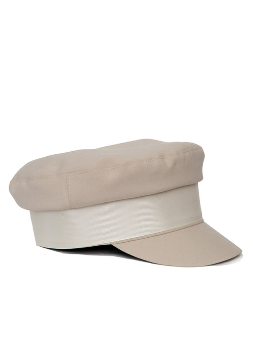 right view of Grey Cotton Cap made in Azerbaijan
