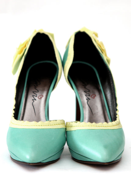 Luxury LANVIN Green Emerald Heels