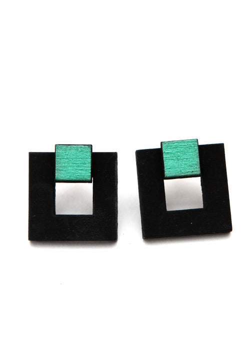 Two Colored Handmade Earrings