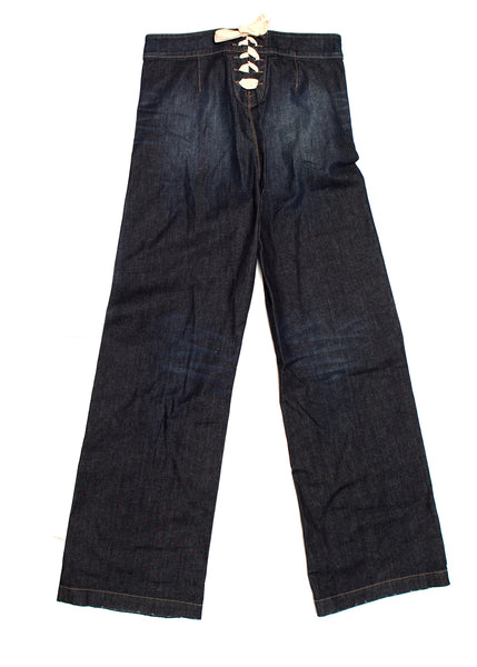 Pre owned GUCCI Dark Blue Wide Leg Jeans