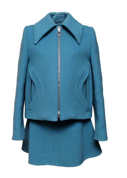 Blue Skirt and Jacket