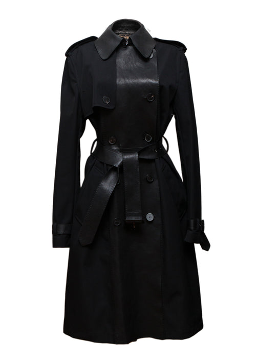 Pre owned JEAN PAUL GAULTIER Black Wool Trench