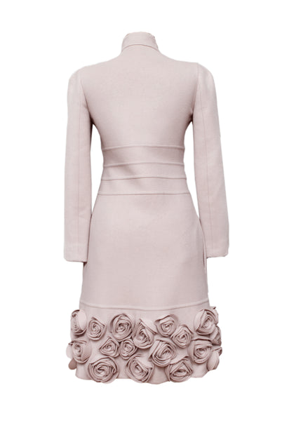 back view of Pre owned VALENTINO Pale Pink Coat