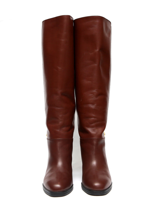 front view of Luxury TOD'S Knee High Boots