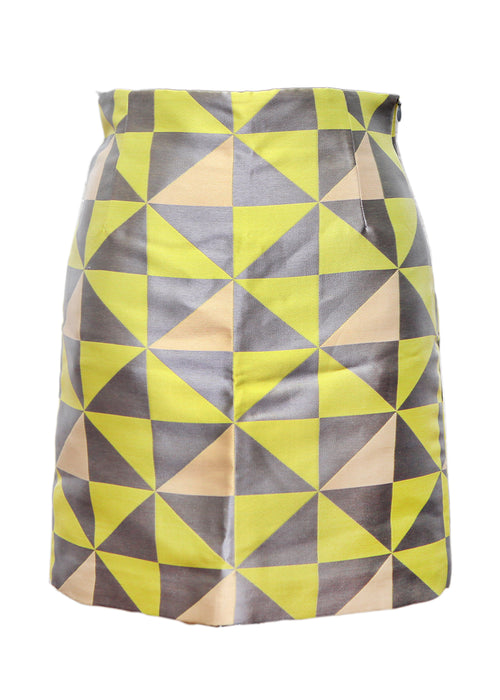 Yellow Printed Skirt