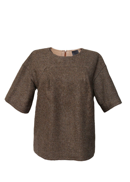 Luxury FENDI Light Brown Blouse